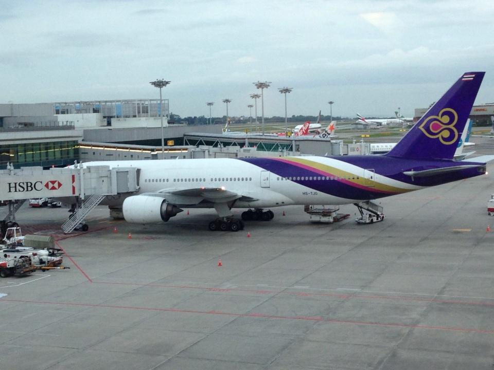 AIR JAPONさんのタイ国際航空 Boeing 777-200 (HS-TJG) 航空フォト