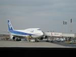 de laさんが、パリ シャルル・ド・ゴール国際空港で撮影した全日空 747-481の航空フォト(飛行機 写真・画像)