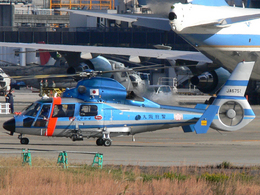 ぶちょさんが、伊丹空港で撮影した大阪府警察 AS365N2 Dauphin 2の航空フォト(飛行機 写真・画像)