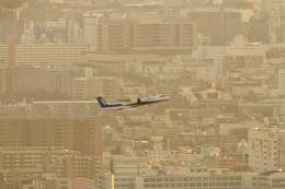 おぺちゃんさんが、伊丹空港で撮影した全日空 DHC-8-402Q Dash 8の航空フォト(飛行機 写真・画像)