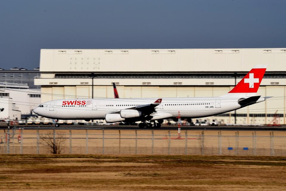 tsubasa0624さんのスイスインターナショナルエアラインズ Airbus A340-300 (HB-JML) 航空フォト