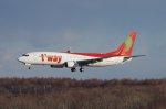 新千歳空港 - New Chitose Airport [CTS/RJCC]で撮影されたティーウェイ航空 - T'way Airlines [TW/TWB]の航空機写真
