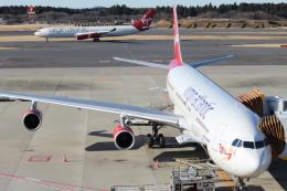 まっくうさんが、成田国際空港で撮影したヴァージン・アトランティック航空 A340-313Xの航空フォト(飛行機 写真・画像)