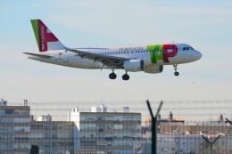 バーバ父さんが、リスボン・ウンベルト・デルガード空港で撮影したTAPポルトガル航空 A319-111の航空フォト(飛行機 写真・画像)