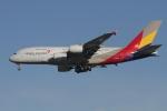 matsuさんが、ロサンゼルス国際空港で撮影したアシアナ航空 A380-841の航空フォト(写真)