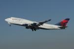 matsuさんが、ロサンゼルス国際空港で撮影したデルタ航空 747-451の航空フォト(飛行機 写真・画像)