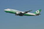 matsuさんが、ロサンゼルス国際空港で撮影したエバー航空 747-45E(BDSF)の航空フォト(写真)