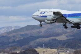 Q400さんが、福島空港で撮影した全日空 747-481(D)の航空フォト(飛行機 写真・画像)