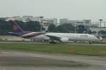matsuさんが、シンガポール・チャンギ国際空港で撮影したタイ国際航空 777-3D7/ERの航空フォト(飛行機 写真・画像)