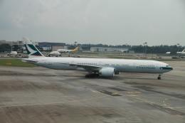 matsuさんが、シンガポール・チャンギ国際空港で撮影したキャセイパシフィック航空 777-367/ERの航空フォト(写真)