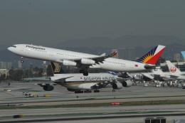 matsuさんが、ロサンゼルス国際空港で撮影したフィリピン航空 A340-313Xの航空フォト(写真)
