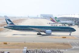 ぽんさんが、関西国際空港で撮影したキャセイパシフィック航空 777-367/ERの航空フォト(飛行機 写真・画像)
