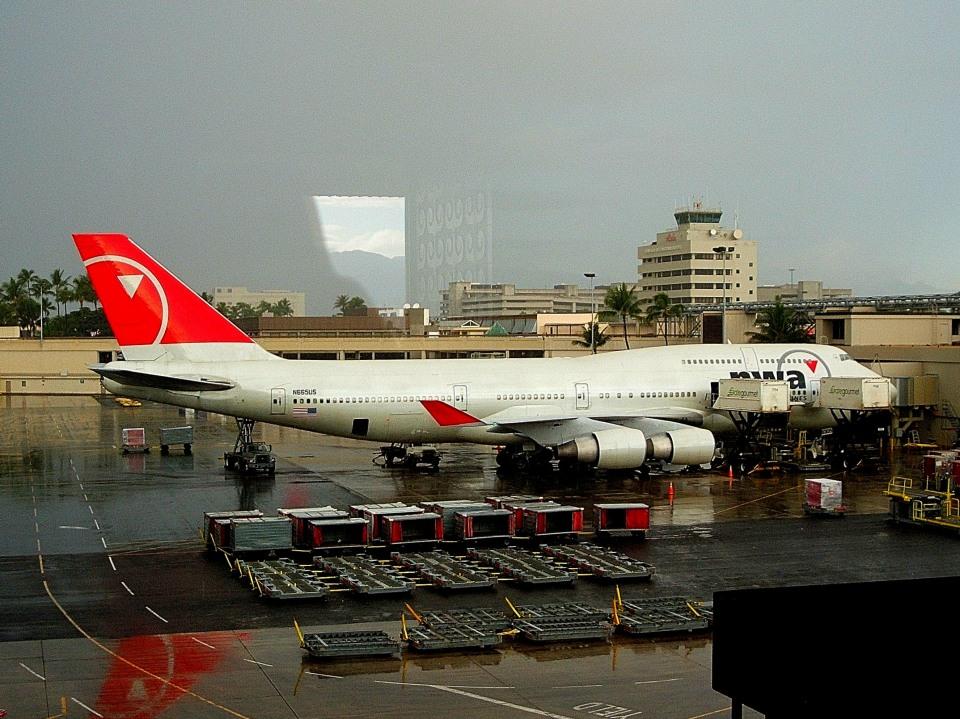 tsubasa0624さんのノースウエスト航空 Boeing 747-400 (N665US) 航空フォト