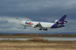 北の熊さんが、千歳基地で撮影したフェデックス・エクスプレス MD-11Fの航空フォト(写真)