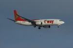 北の熊さんが、新千歳空港で撮影したティーウェイ航空 737-83Nの航空フォト(飛行機 写真・画像)