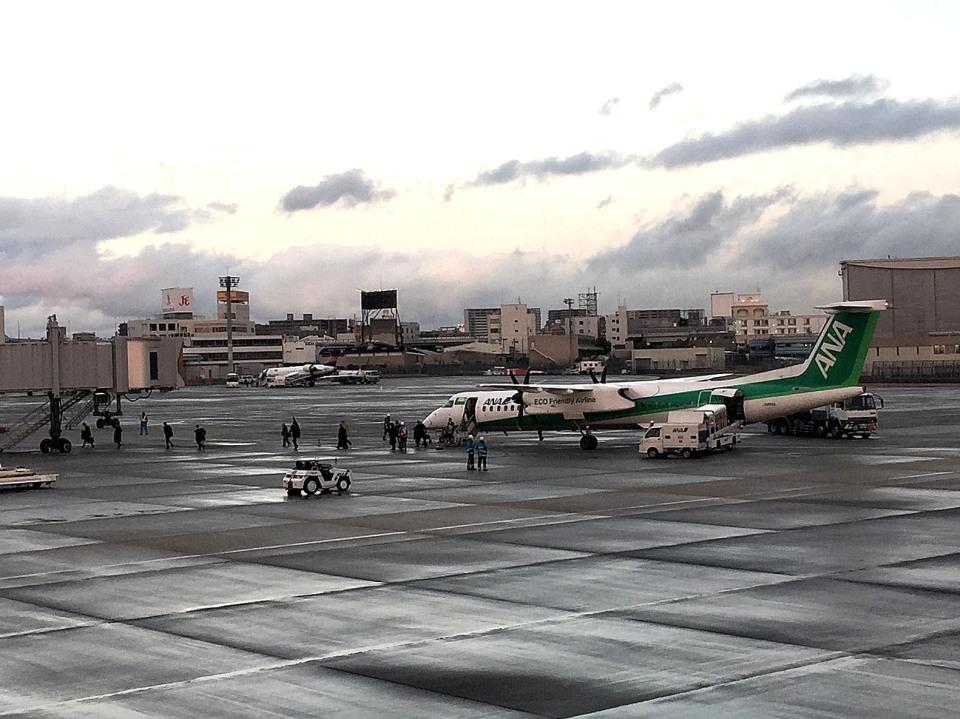 tsubasa0624さんのANAウイングス Bombardier DHC-8-400 (JA858A) 航空フォト