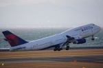 Ryo-JA8088さんが、中部国際空港で撮影したデルタ航空 747-451の航空フォト(写真)