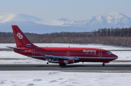 sunset-wingさんが、新千歳空港で撮影したオーロラ 737-2J8/Advの航空フォト(飛行機 写真・画像)