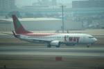 tsubasa0624さんが、福岡空港で撮影したティーウェイ航空 737-83Nの航空フォト(飛行機 写真・画像)