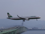 あしゅーさんが、関西国際空港で撮影したエバー航空 A321-211の航空フォト(飛行機 写真・画像)
