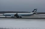北の熊さんが、新千歳空港で撮影したキャセイパシフィック航空 A330-343Xの航空フォト(飛行機 写真・画像)