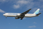 taka777さんが、パリ オルリー空港で撮影したユーロアトランティック・エアウェイズ 767-383/ERの航空フォト(写真)