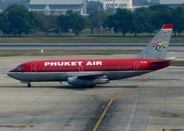 RA-86141さんが、ドンムアン空港で撮影したプーケット航空 737-2B7/Advの航空フォト(飛行機 写真・画像)