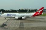 RUSSIANSKIさんが、シンガポール・チャンギ国際空港で撮影したカンタス航空 747-438/ERの航空フォト(飛行機 写真・画像)
