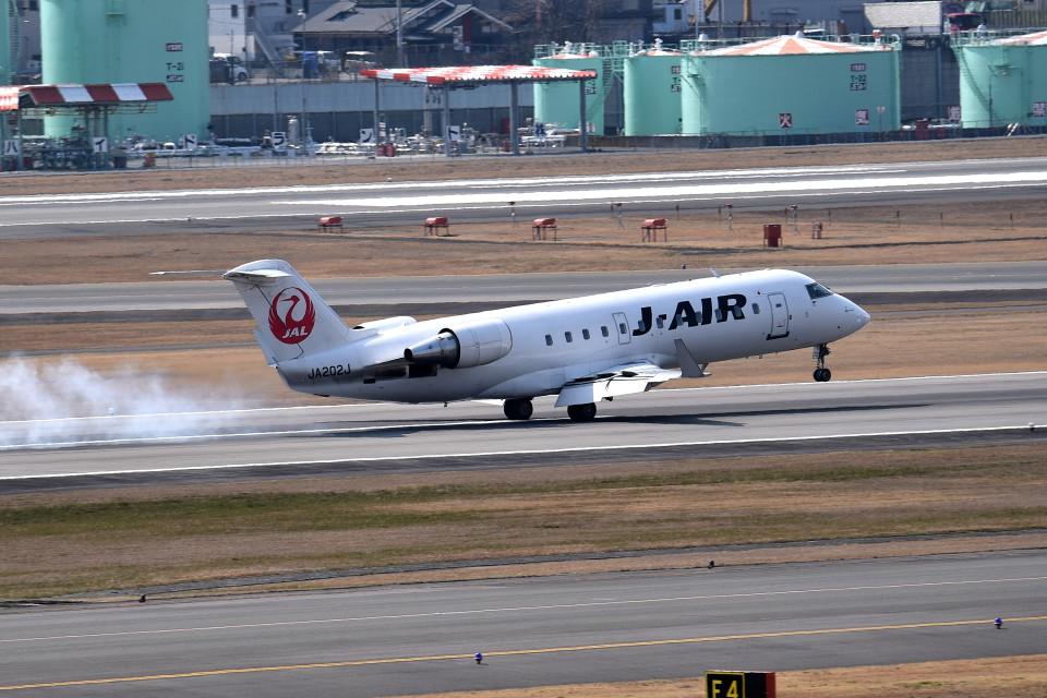 tsubasa0624さんのジェイ・エア Bombardier CRJ-200 (JA202J) 航空フォト