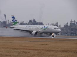 てくてぃーさんが、松山空港で撮影したスカイウィングス・アジア・エアラインズ A320-212の航空フォト(飛行機 写真・画像)