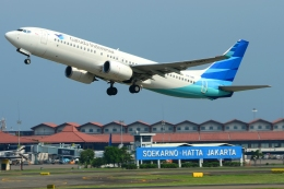 RUSSIANSKIさんが、スカルノハッタ国際空港で撮影したガルーダ・インドネシア航空 737-8U3の航空フォト(写真)