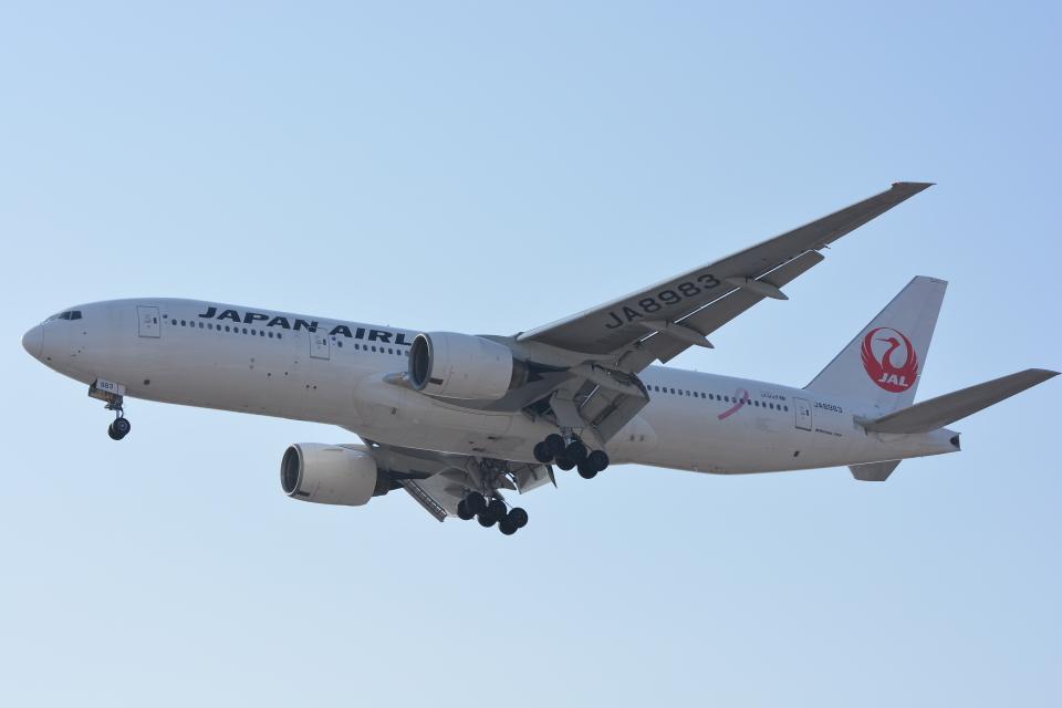 カシオペアさんの日本航空 Boeing 777-200 (JA8983) 航空フォト