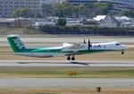 じーく。さんが、伊丹空港で撮影したANAウイングス DHC-8-402Q Dash 8の航空フォト(写真)