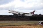 まいけるさんが、エディンバラ空港で撮影したカタール航空 787-8 Dreamlinerの航空フォト(飛行機 写真・画像)