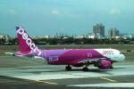 うめやしきさんが、高雄国際空港で撮影したピーチ A320-214の航空フォト(飛行機 写真・画像)