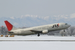 ATOMさんが、帯広空港で撮影した日本トランスオーシャン航空 737-4Q3の航空フォト(飛行機 写真・画像)
