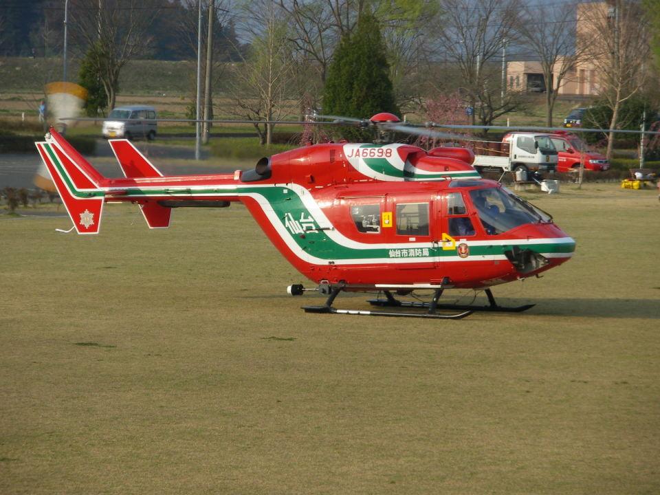 kumagorouさんの仙台市消防航空隊 Kawasaki BK117 (JA6698) 航空フォト