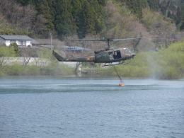 kumagorouさんが、宮城県角田市尾山地区で撮影した陸上自衛隊 UH-1Jの航空フォト(写真)