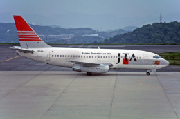 Gambardierさんが、岡山空港で撮影した日本トランスオーシャン航空 737-2Q3/Advの航空フォト(飛行機 写真・画像)