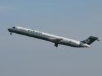 aquaさんが、台湾桃園国際空港で撮影したエバー航空 MD-90-30の航空フォト(飛行機 写真・画像)