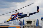 へりさんが、東京ヘリポートで撮影したアカギヘリコプター K-1200 K-Maxの航空フォト(写真)