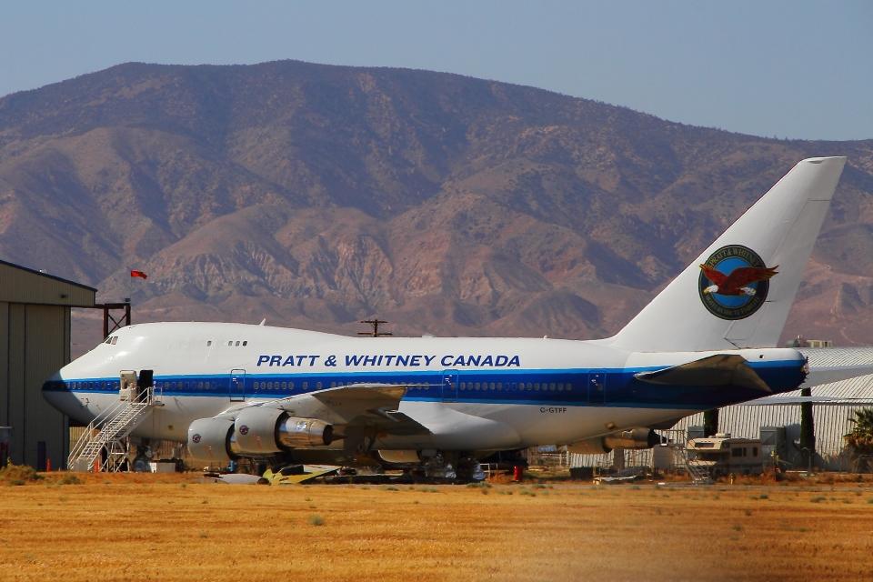 プラット・アンド・ホイットニー・エンジン・サービス Boeing 747SP C ...