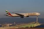 ハピネスさんが、関西国際空港で撮影したエミレーツ航空 777-31H/ERの航空フォト(飛行機 写真・画像)