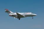 パンダさんが、成田国際空港で撮影したAIRMED INTERNATIONAL LLC BAe-125-800Aの航空フォト(飛行機 写真・画像)