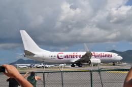 ひでかずさんが、プリンセス・ジュリアナ国際空港で撮影したカリビアン航空 737-85Pの航空フォト(飛行機 写真・画像)