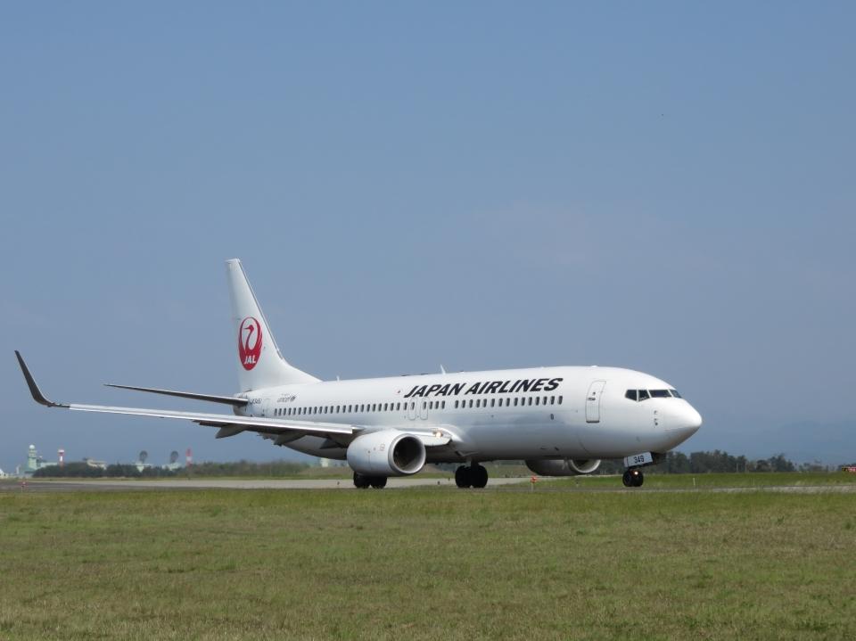 aquaさんの日本航空 Boeing 737-800 (JA349J) 航空フォト