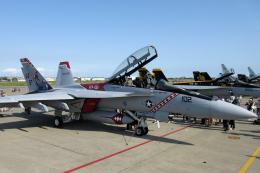 banshee02さんが、厚木飛行場で撮影したアメリカ海軍 F/A-18F Super Hornetの航空フォト(飛行機 写真・画像)