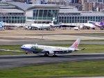 あしゅーさんが、福岡空港で撮影したチャイナエアライン A330-302の航空フォト(飛行機 写真・画像)