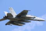 ロボキさんが、厚木飛行場で撮影したアメリカ海軍 F/A-18F Super Hornetの航空フォト(写真)