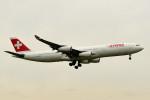 tsubasa0624さんが、成田国際空港で撮影したスイスインターナショナルエアラインズ A340-313Xの航空フォト(飛行機 写真・画像)